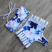 Hight Waist Bikini Beachwear Bathing Swim Suit Push Up Swimwear Bikinis