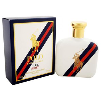 Polo Blue Sport for Men by Ralph Lauren Eau de Toilette Spray 4.2 oz