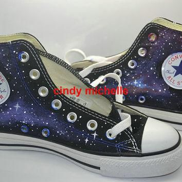 Custom Converse Galaxy Converse Sneakers Hand-Painted On Converse Shoes Great Gift