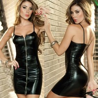 Cute Sexy On Sale Hot Deal Leather Skirt Exotic Lingerie [6595763267]