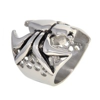 Dear Deer Stainless Steel Vintage Spiderman Spider Ring