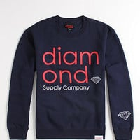 Diamond Supply Co Navy Mid-Century Crew Fleece at PacSun.com