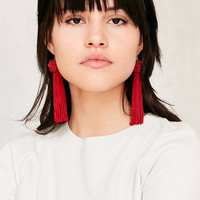 Vanessa Mooney Astrid Knotted Tassel Earring | Urban Outfitters