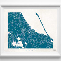 Massachusetts, Plymouth, Print, Map, MA, Poster, State, City, Street Map, Art, Decor, Town, Illustration, Room, Wall Art, Customize