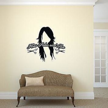 Wall Vinyl Sticker Hair Salon and Spa Styling Nails Beauty Haircut Unique Gift (ig2036)