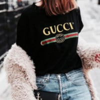 Gucci Hot letters print T-shirt