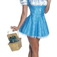 Secret Wishes  Women's Wizard of Oz Sequin Dorothy Costume, Blue/White, Medium