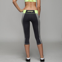 Women Slim Fit Sport Suit Fitness Sportswear Stretch Exercise Yoga  Trousers Pants _ 2159
