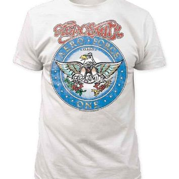 Aerosmith Aero Force Men's White Short Sleeve Tee (Adult X-Large)