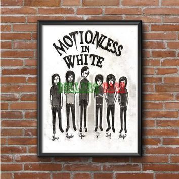 Motionless In White (monster cartoon)  Photo Poster 16x20 18x875