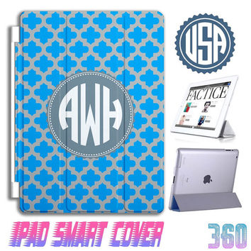 Monogram Custom IPad Air Smart Cover personalized IPad mini Case , IPad 4 case  ipad 2 IPhone 5 5S 5C 4S Samsung Galaxy note 3 S5 S4 S3 #360
