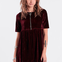Winona Velvet Babydoll Dress