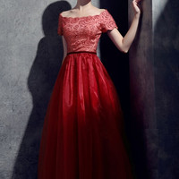 Beaded Illusion Chiffon Gown