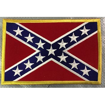 Confederate Flag Patches - Felt Sew On