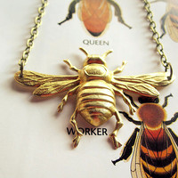 Bee Necklace Insect Jewelry Bumblebee