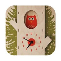Tree Owl 3D Wall Clock