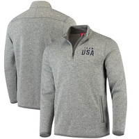 Team USA Lima Quarter-Zip Pullover Sweatshirt – Gray