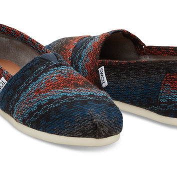 Rust Multi Stripe Woven Wool Women's Classics