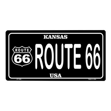 Smart Blonde Route 66 Kansas Vanity Metal Novelty License Plate Tag Sign