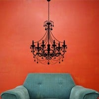 Chandelier Vinyl Wall Decal Sticker