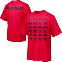 Nike Boston Red Sox #GetBeard T-Shirt - Red