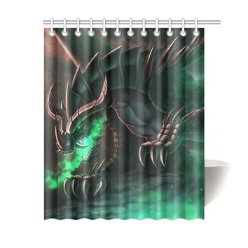 Fantasy Dragon Polyester Shower Curtain 60x72 inch