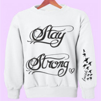 Stay Strong Demi Lovato Tattoo Crewneck