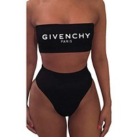 GIVENCHY+Moschino+FENDI+Dior+LV+Balenciaga+Gucci High Waisted Two Piece Bandeau Bikini