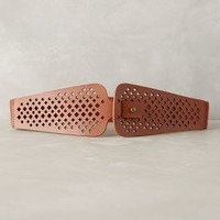 Window Frame Perforated Belt by Anthropologie Cedar