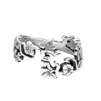 Cherry Blossom Silver Ring