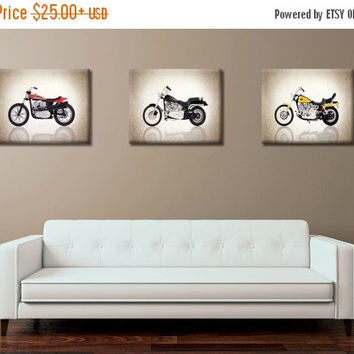 Weekend Sale Discount set of 3 Harley Davidson photo print,boys room decor,kids room decor,Harley davidson decor,harley wall art,motorcycle