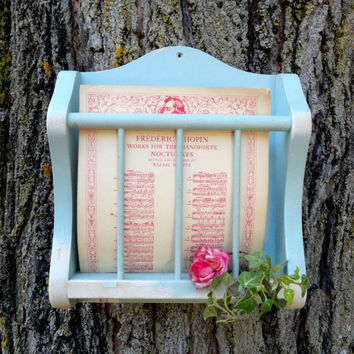 Wood wall shelf, home decor, vintage, up cycled, chalk paint, home decor, cottage chic, blue, distressed