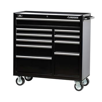 Husky 41 in. 10-Drawer Tool Cabinet, Black-H4116TR - The Home Depot
