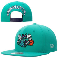 Charlotte Hornets New Era Hardwood Classics Original Fit Practice 9FIFTY Snapback Hat - Teal