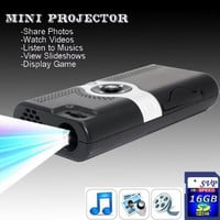 NEW! PP003(with 16GB Card) Portable POCKET PROJECTOR $109.99