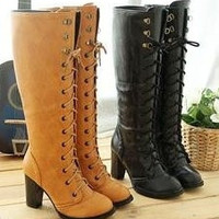 knee boots high heel shoes winter fashion sexy warm long women boot AH103 on sale size 30-43 = 1945971844