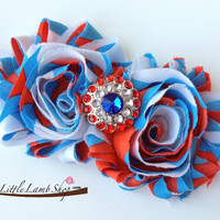 Fourth of July Patriotic US baby headband by littlelambshop