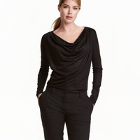 H&M Draped Jersey Top $17.99