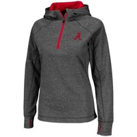 Alabama Crimson Tide Ladies Chelsea Quarter-Zip Jacket - Charcoal