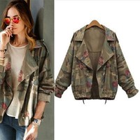 Vintage Open Stitched Military Jacket