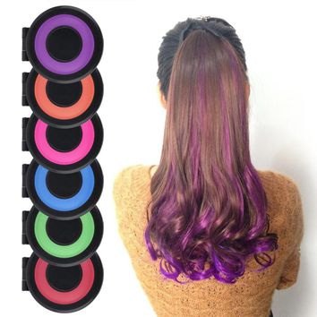 Convenient Temporary Super Hair Dye Colorful Chalk Hair Color Alcohol-Free chalks for the hair giz pastel
