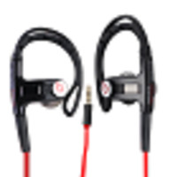 Beats By Dr. Dre Powerbeats In-Ear Stereo Headphones w/Inline Remote/Microphone, 3.5mm Jack (Black/Red)