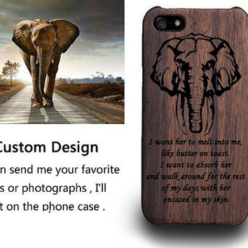 Engraved iPhone 6S Case - iPhone 5s Case - iPhone 6plus Case - iPhone 6s 5s Case - Personalized Custom iPhone Case - Elephant iPhone Case