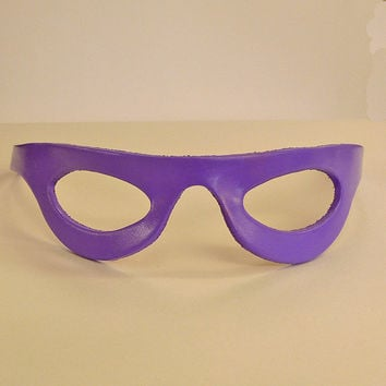 THE RIDDLER MASK in Leather. The Frank Gorshin Design. Designed & Hand Crafted in Wales.