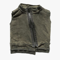 Nununu Deconstructed Vest in Olive - NU0712