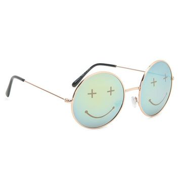 With Love From CA Teen Spirit Round Sunglasses - Womens Sunglasses - Gold - One
