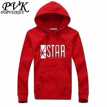STAR labs black women's Hooded Hoodies women sweatshirt jumper the flash gotham city comic books superman tv series hoody