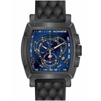 Invicta 15793 Men's S1 Rally Quartz Blue Dial Black Leather Strap Chronograph Watch