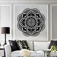 Vinyl Decal Mandala Buddhist Hindu Religion Symbol Wall Stickers (657ig)