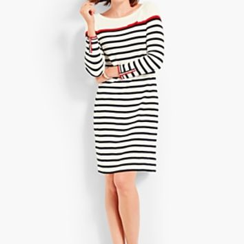 Stripe Interlock Dress | Talbots